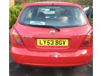 Nissan Almera red car for sale!
