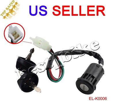 Key Ignition Switch Super Pocket Dirt Bike Atv  Taotao Sunl Roketa Chinese 4Pin