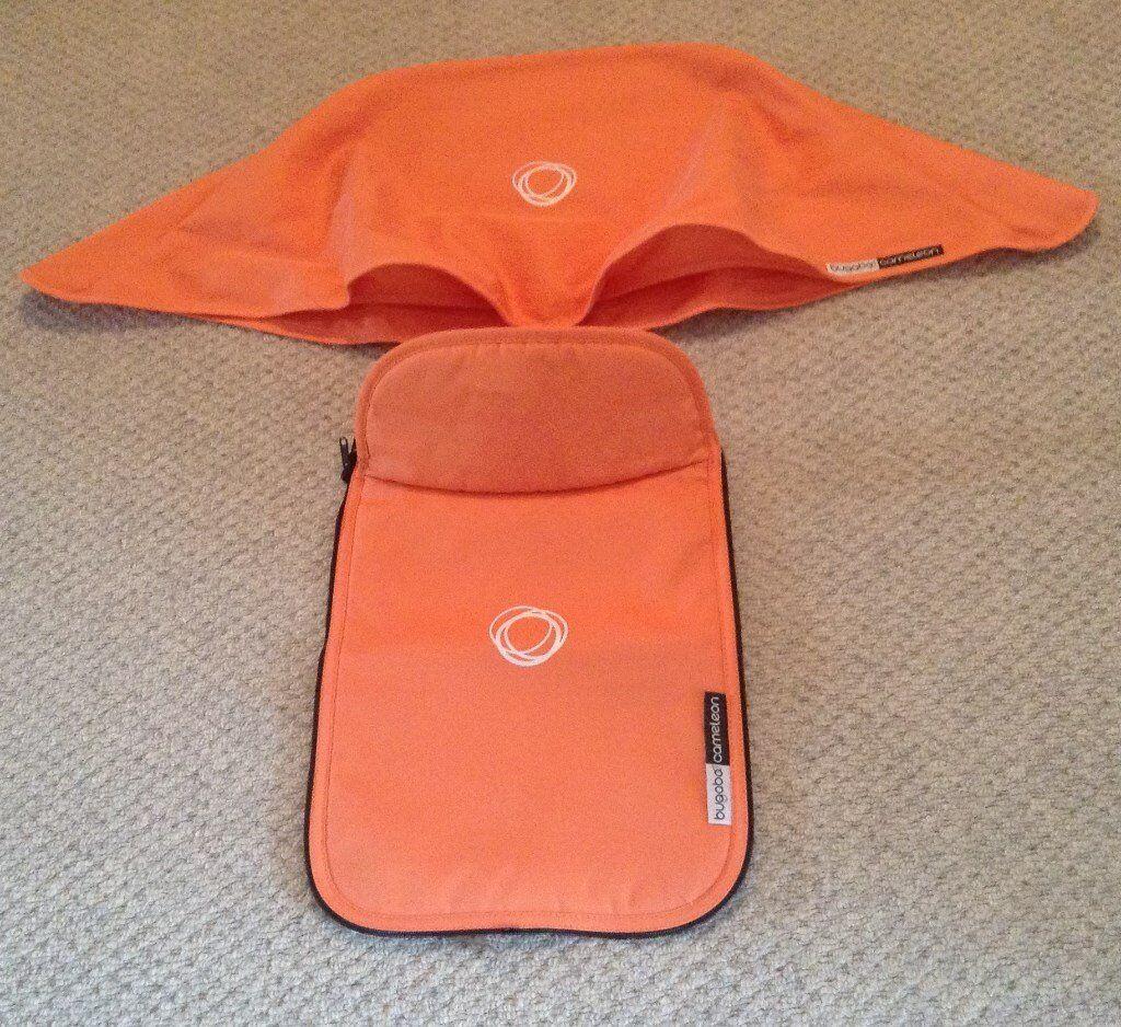 Tangerine Bugaboo Cameleon Canvas Tailored Fabric Set