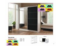 **EXCLUSIVE DESIGN WIKA 203 CM HIGH GLOSS SLIDING WARDROBE ,GERMAN QUALITY , FREE DELIVERY ,,,