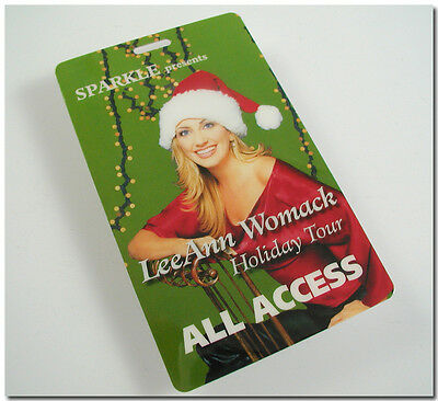 LEEANN LeeAnn WOMACK HOLIDAY TOUR ALL ACCESS BACKSTAGE LAMINTED PASS ORIGINAL