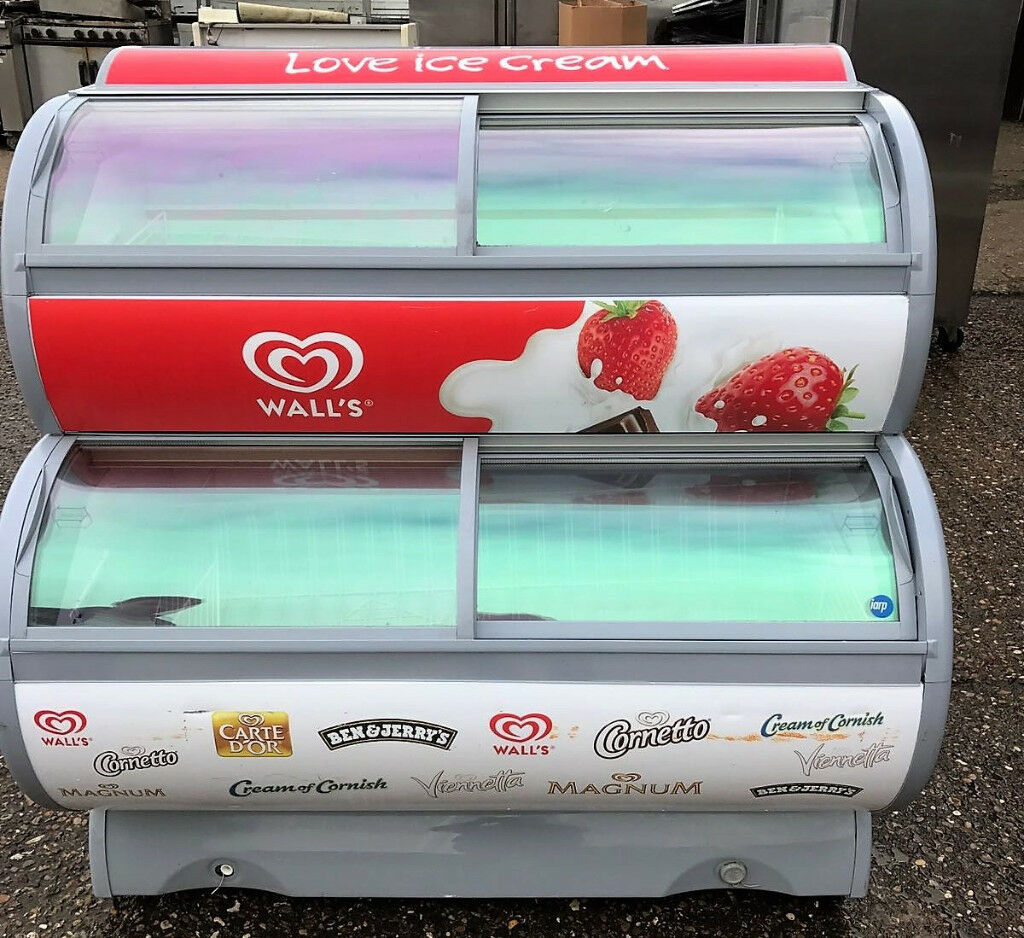 WALLS Ice Cream Display Freezer / Commercial / Retail Sliding Doors