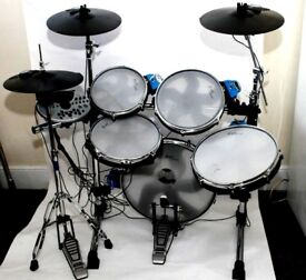 DRUMS Traps E500 Electronic Drum Kit With Realistic Mesh Heads , Pads , Cymbals , Hi-Hat , BD Pedal.