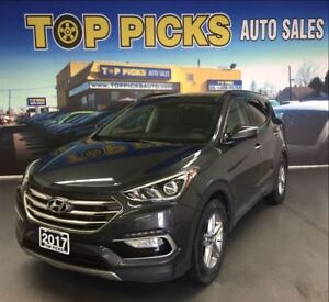 2017 Hyundai Santa Fe Sport AWD, LEATHER, SUNROOF, BACK UP CAM A