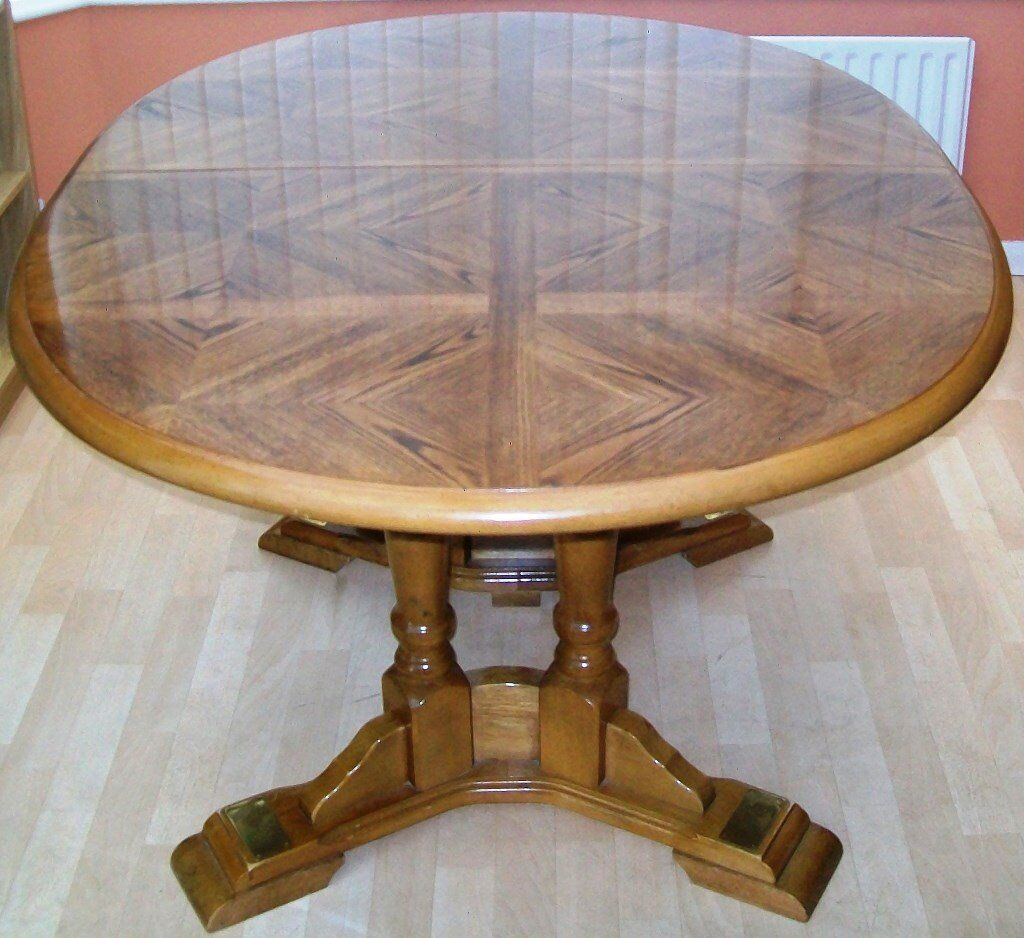 Solid Wood Extendable Dining Table 6 Chairs