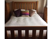 """4'6""""Solid Wood Double Bed Frame - fantastic quality bed frame for sale"""