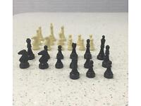 CHESS PIECES THIRTY PIECES. (NO BOARD INCLUDED IN THIS SALE)