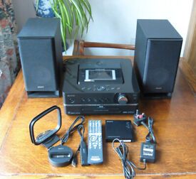 Sony GIGA JUKE NAS-S55HDE music server sound system HDD 80gb hard drive + accessories