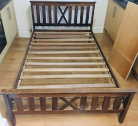 Wooden small double bed frame