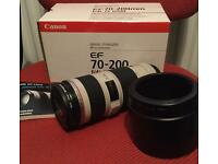 Canon 70-200 F4 is L series lens with Hoya filter