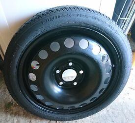 "Vauxhall Meriva 16"" Space Saver Spare Wheel 2010-"