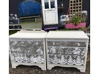 Uniquely upcycled dressing table & chest of drawers