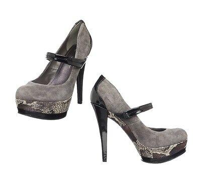 New Jessica Simpson Cheetah Cloud Grey Platform Pumps High Heels