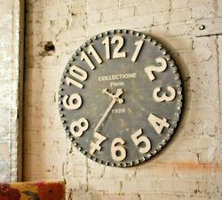 Large Oversize Black White Wood Wall Clock 28 Inch Diameter