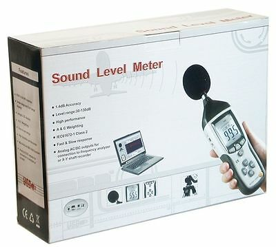 Cem Dt-8851 Digital Sound Noise Db Meter Data Logger Datalogger Pc Usb Interface