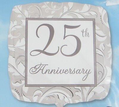 25th Wedding Anniversary Elegant 17 Inch Foil Balloon Square New Anagram Party (25th Wedding Anniversary Balloons)
