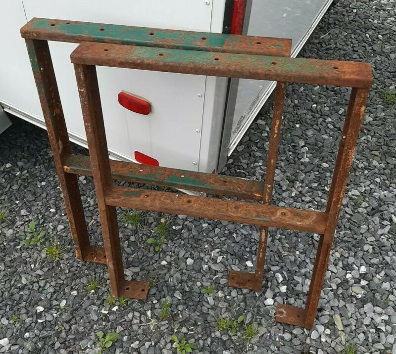 Vintage Industrial Table Legs Steel Workbench Desk Kitchen Salvage Steam Punk