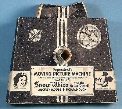 1938 Snow White Moving Picture Machine Pepsodent Toothpaste Premium Disney Ent.