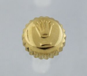 Rolex 18K Yellow Gold 6mm Datejust Oyster Watch Crown Part
