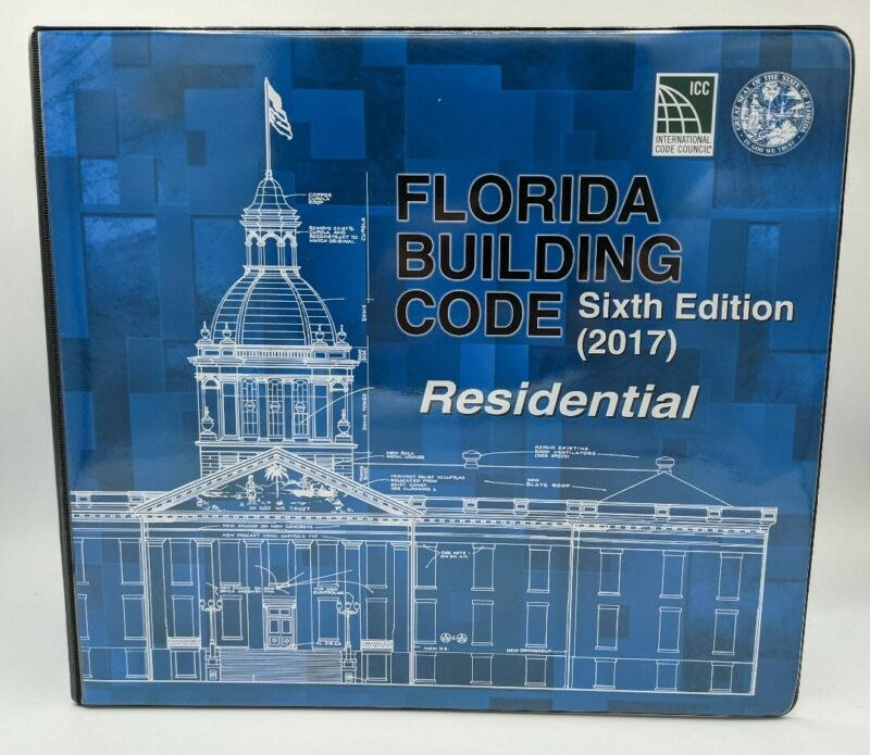 Florida Building Code Sixth Edition 2017 Residential Sealed with Binder and Tabs