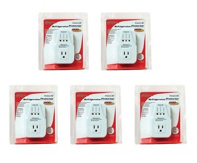 5 Pack 1800 Watts Power Surge Protector Ac Voltage Brownout Refrigerator