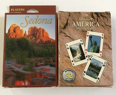 New Sealed Discover America & Sedona Playing Cards](Discover America)