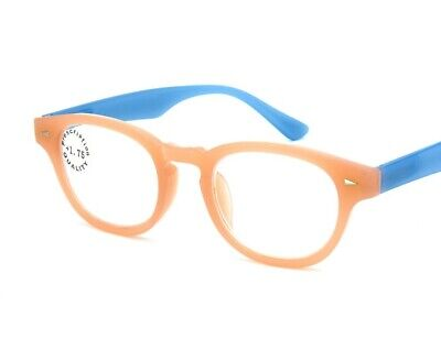 Trendy Reading Glasses +1.00 to +4.00 Mens Womens Green Blue Retro (Trendy Glasses For Men)