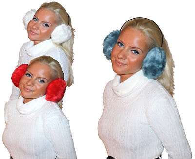 Kuschelige Plüsch Ohrenwärmer Fleece Ohrenschützer Damen Kinder Ohrenschützer