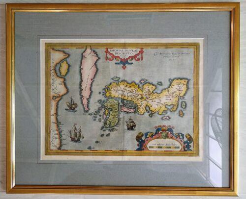 FIRST EUROPEAN MAP OF JAPAN - Abraham Ortelius 1595