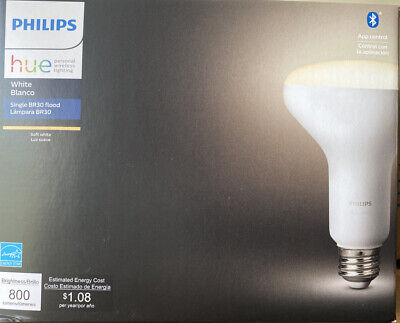 Brand New Philips Hue White BR30 Bluetooth Smart LED Bulb - White