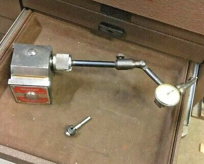 Starrett 657a Magnetic Base 711 F Last Word Dial Test Indicator Machinist Tools