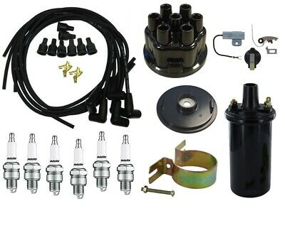 Ignition Tune Up Kit 12v Coil Ih Farmall 6 Cyl Tractor 460 560 606 656 660 666