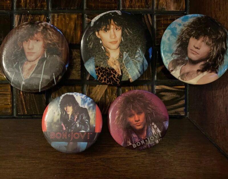 Bon Jovi Pins Set Of 5