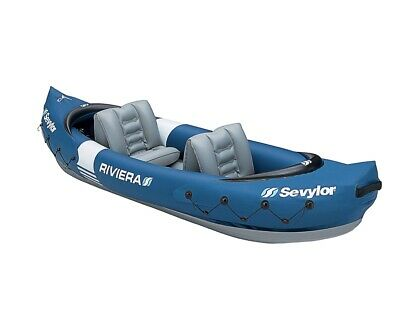 Sevylor Riviera 2 Person Inflatable Kayak - Used.  For Solo or Tandem