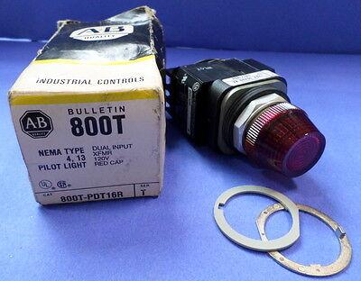 Allen Bradley Dual Input Xfmr Red Cap 800t-pdt16r Ser. T Nib Kjs