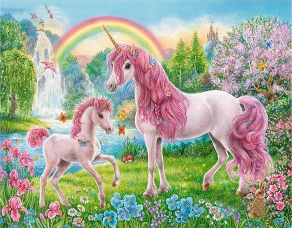Details About Unicorn Horses Van Go Paint By Number Kit For Children