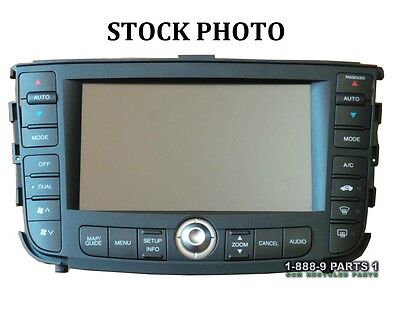 NAVIGATION GPS SYSTEM DISPLAY AC HEATER CONTROL RADIO 07 08 ACURA TL L504B