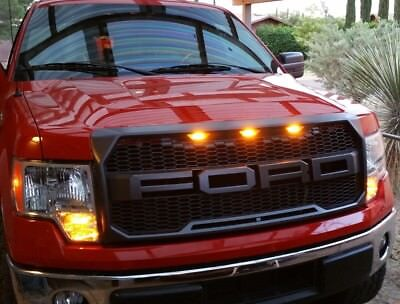 2009-2014 Ford F150 RAPTOR Style Grille FORD LETTERS F & R GRAY