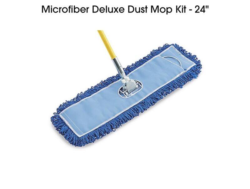 "Microfiber Deluxe Dust Mop Kit - 24"" - Fast Shipping"