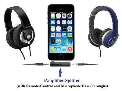 KOKKIA iAmplifier + Splitter (Luxurious Black): Tiny Dual Headphone Amplifier