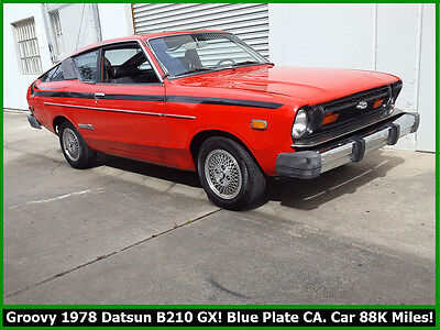 1978 Datsun Other B210 GX GROOVY 1978 DATSUN B210 GX 4 SPEED! BLUE PLATE CALIFORNIA CLASSIC! 88K MILES!