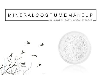 White Mineral Face Powder Make Up Paint Halloween Gothic Ghost Vampire Dracula