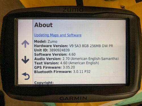 Garmin Zumo 590LM w/ 595LM Firmware and Touratech Locking Cradle