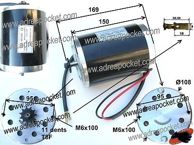 Motor Eléctrico 1000W 36V Patinete/Pocket Quad