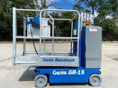 2012 Genie Gr-15 Runabout Personal Manlift Compact Vertical Lift Aerial Lift