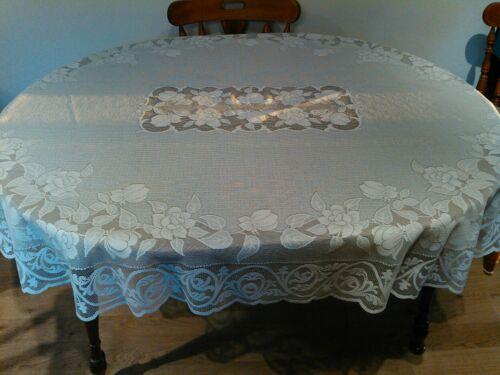 Vintage Oval Tablecloth
