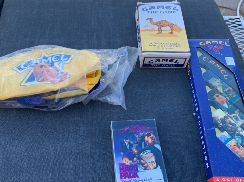 Joe Camel Cigarettes 1993 collectible sturgis  1993 Fanny pack game, Playing Car