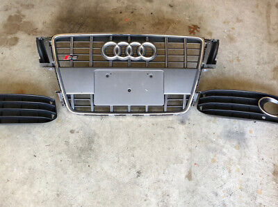 AUDI S5 FRONT GRILLE 2008 2009 2010 2011 2012 8T0 853 651 F GRAY OEM