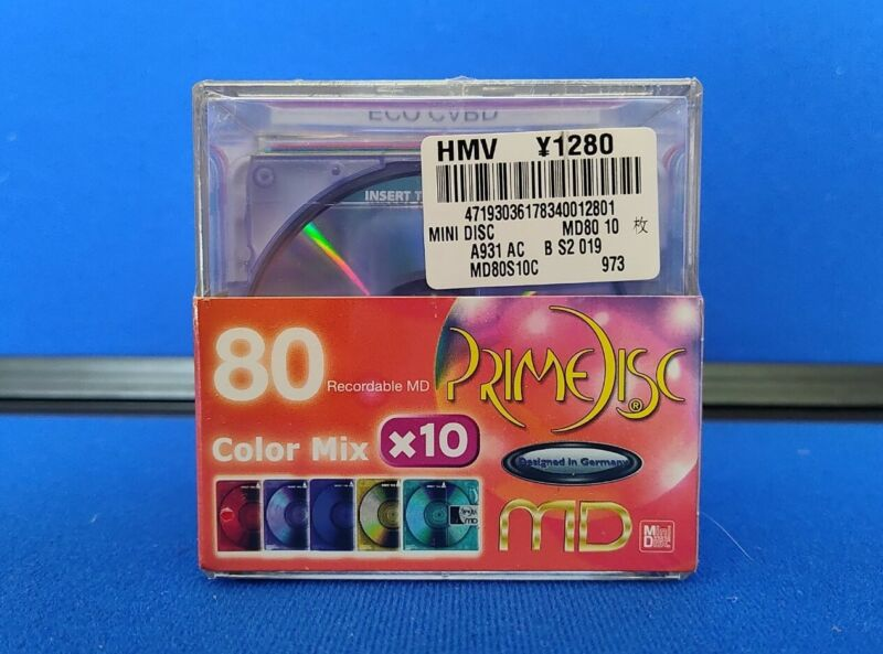 10 Prime Disc Recordable MD-80 Color Mix