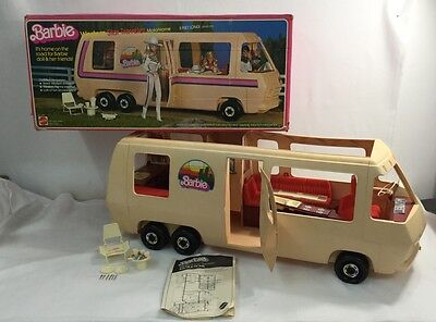 Vintage 1981 Barbie Doll WESTERN STAR TRAVELER 3FT GMC Motorhome RV Original Box